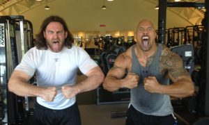 Evan Mathis and Dwayne Johnson (commons.wikimedia.org)