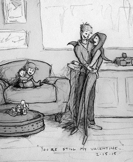 Láska, starosti i radosti. Curtis zobrazuje ilustrácie každodenného života