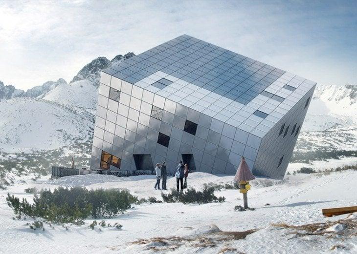 FOTO Českí architekti by chceli takto vidieť naše Tatry: Kontroverzná moderná architektúra priamo v horách