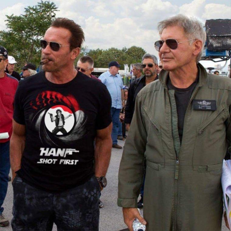 Arnieho pekné nové tričko…