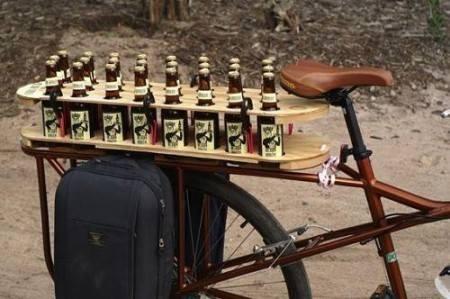Bicyklový nosič na pivo