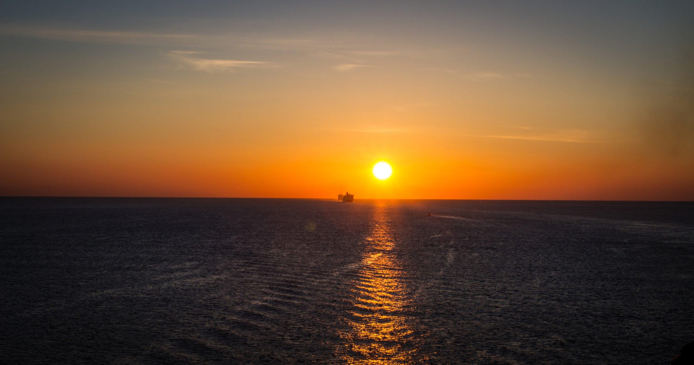ráno na trajekte