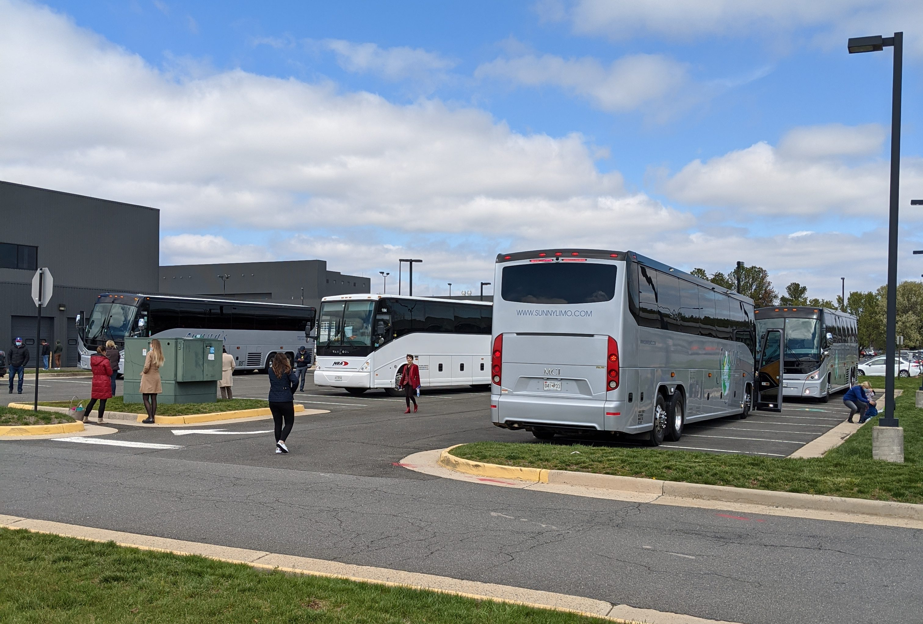 Autobusy na parkovisku