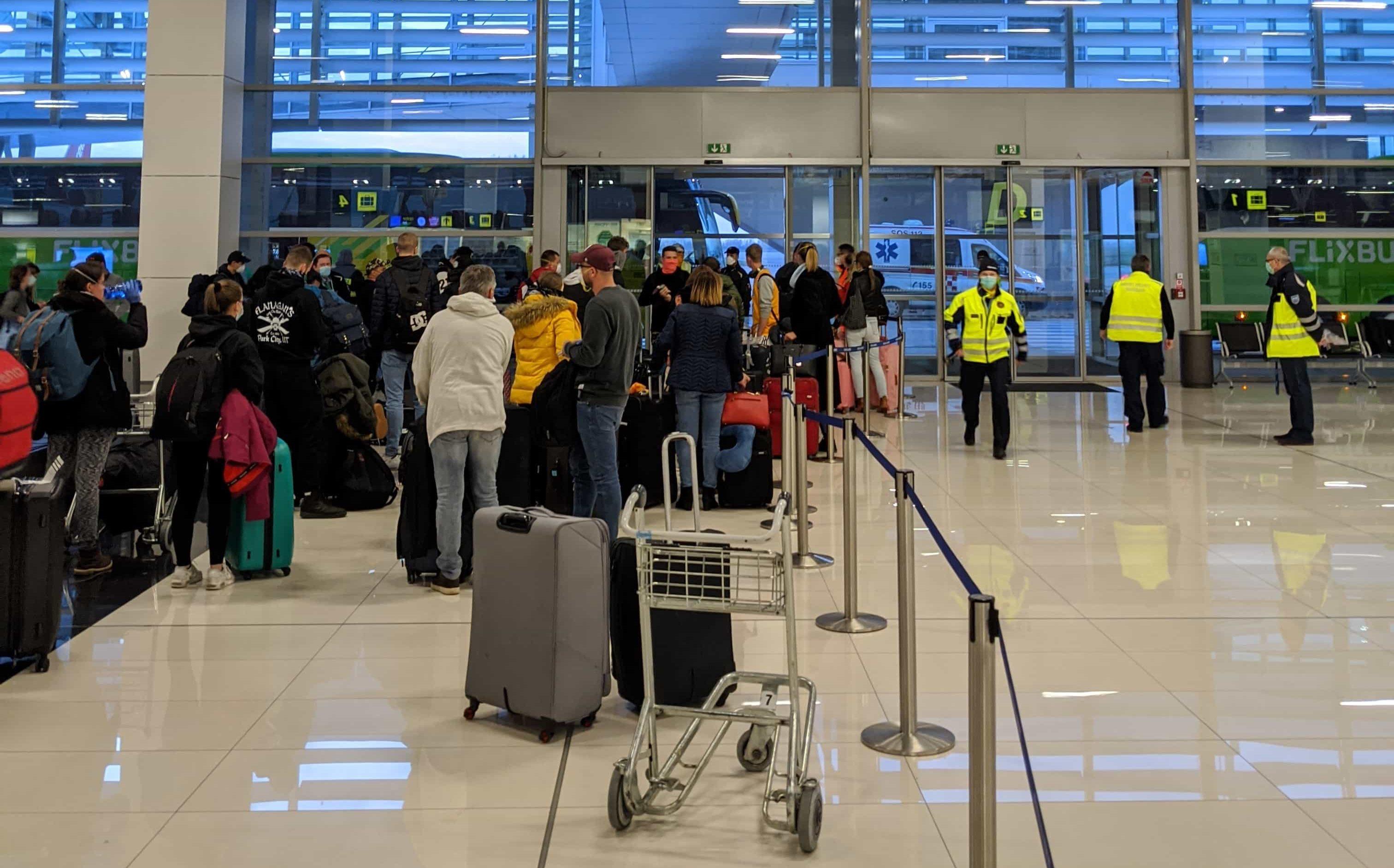 Pristátie repatriačného letu v Bratislave