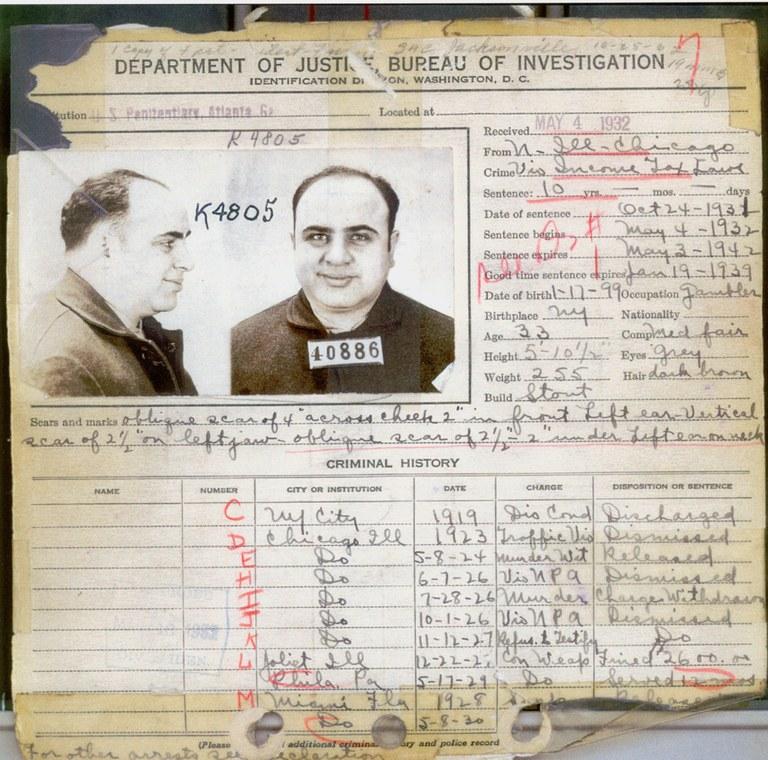 Al Caponeho záznam zločinov