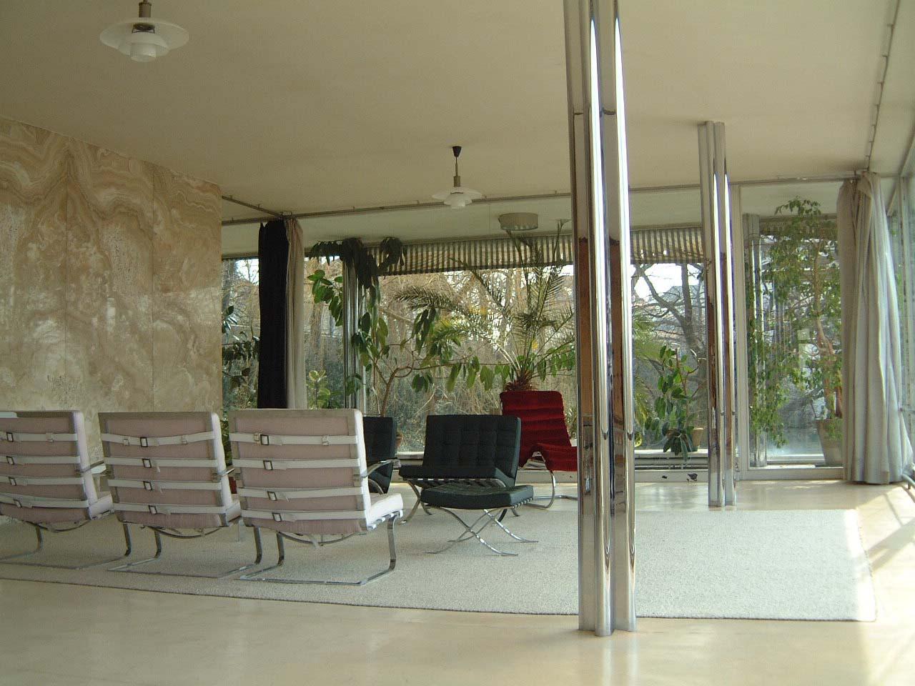 Obývacia izby vily Tugendhat.