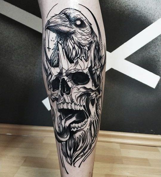 Tetovanie na lýtku
