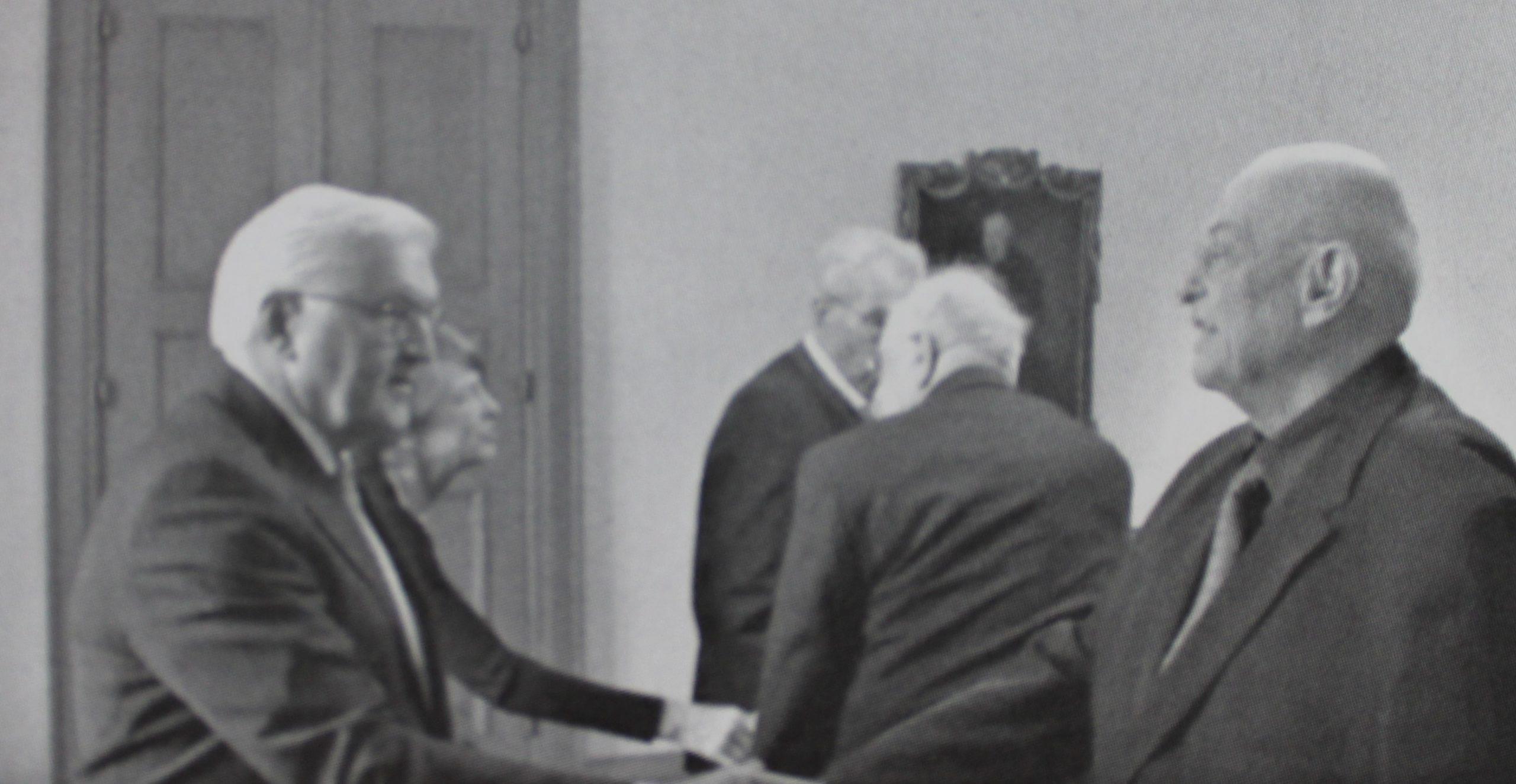 Pavel Taussig na audiencii u nemeckého prezidenta pred odletom do Auschwitzu