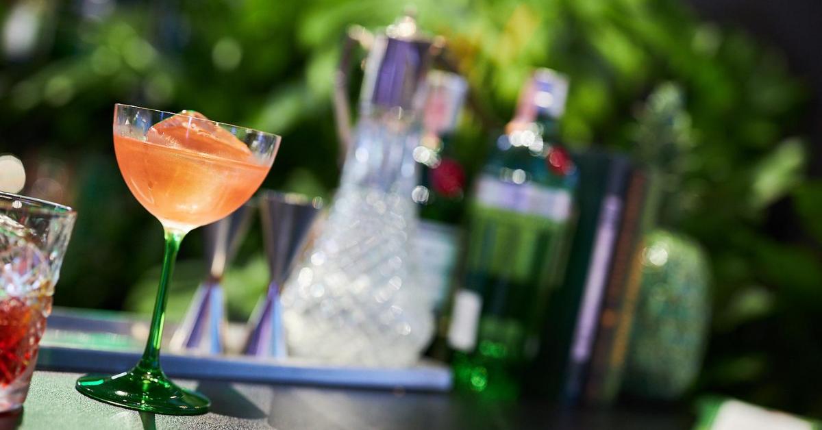 Miešaný drink na Gin Feste