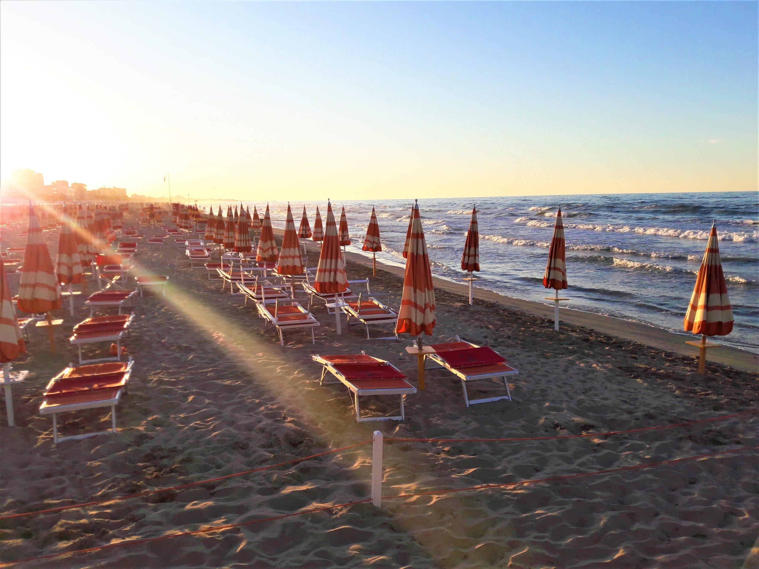 Plážový život v Ravenne