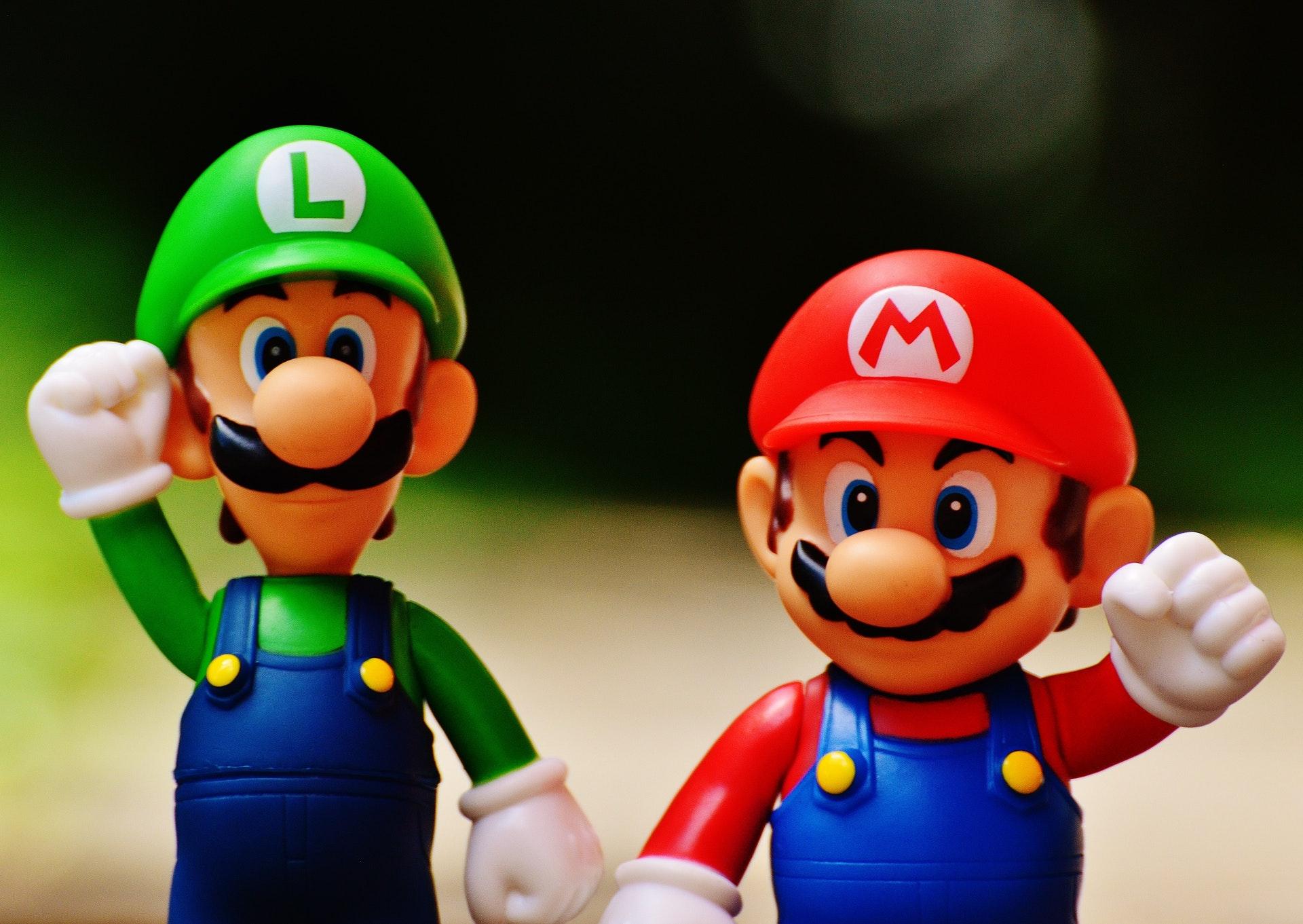 Luigi a Super Mario