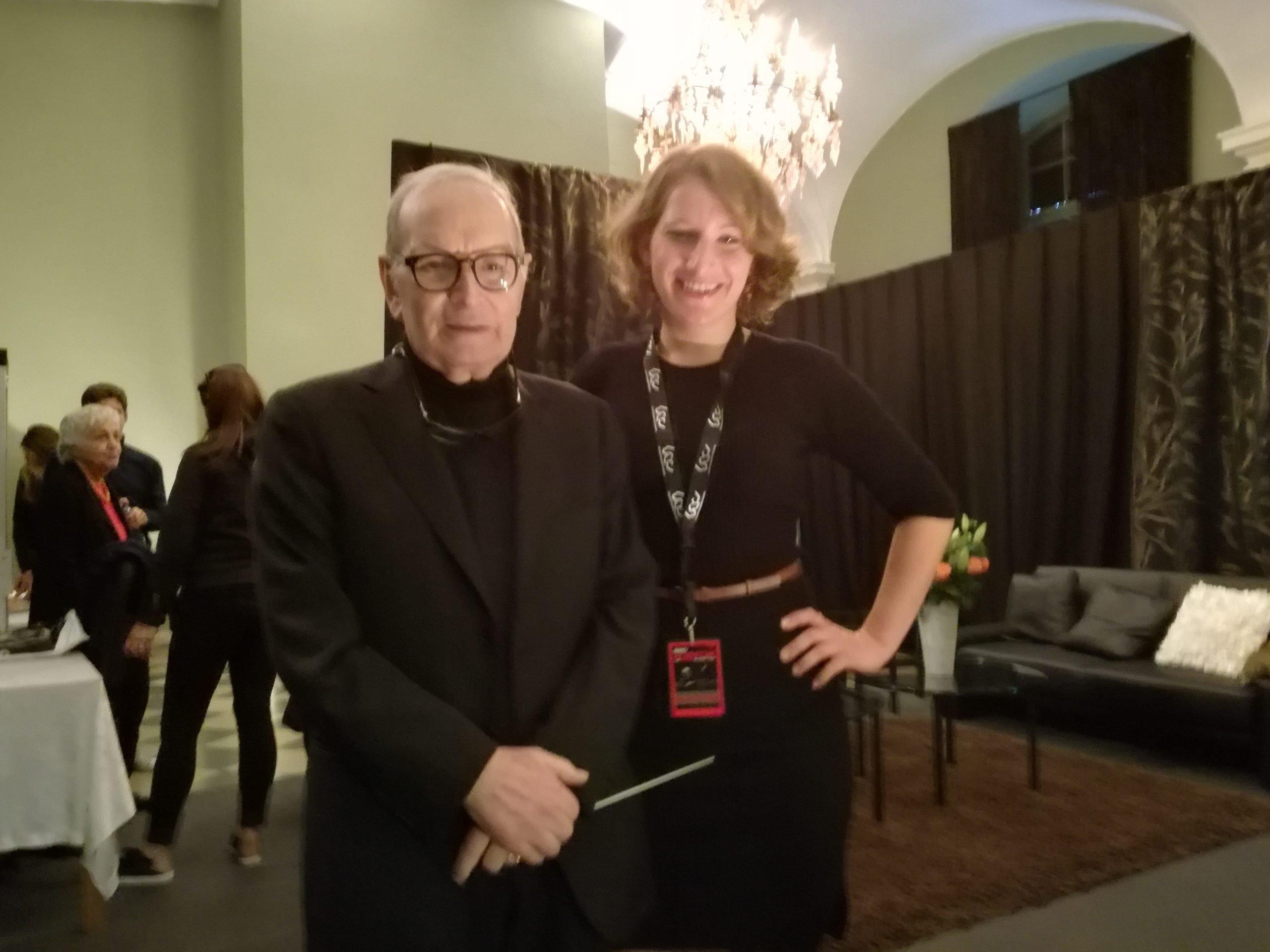 Veronika spolu s legendárnym Enniom Morriconem