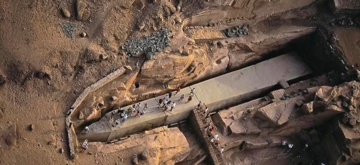 Nedokončený egyptský obelisk