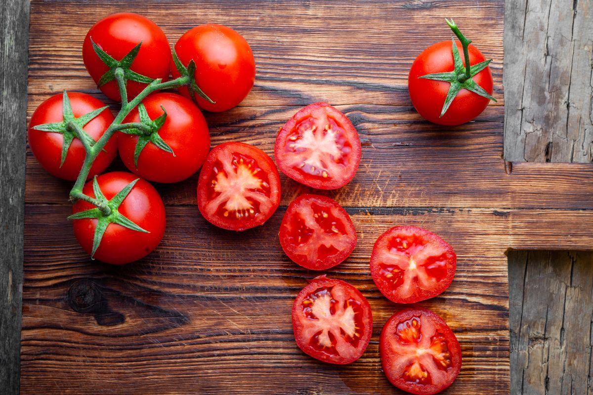 nakrájané paradajky