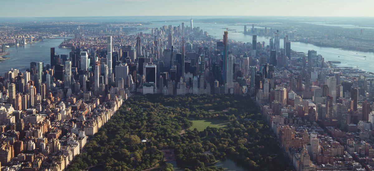 Letecký záber na Central park