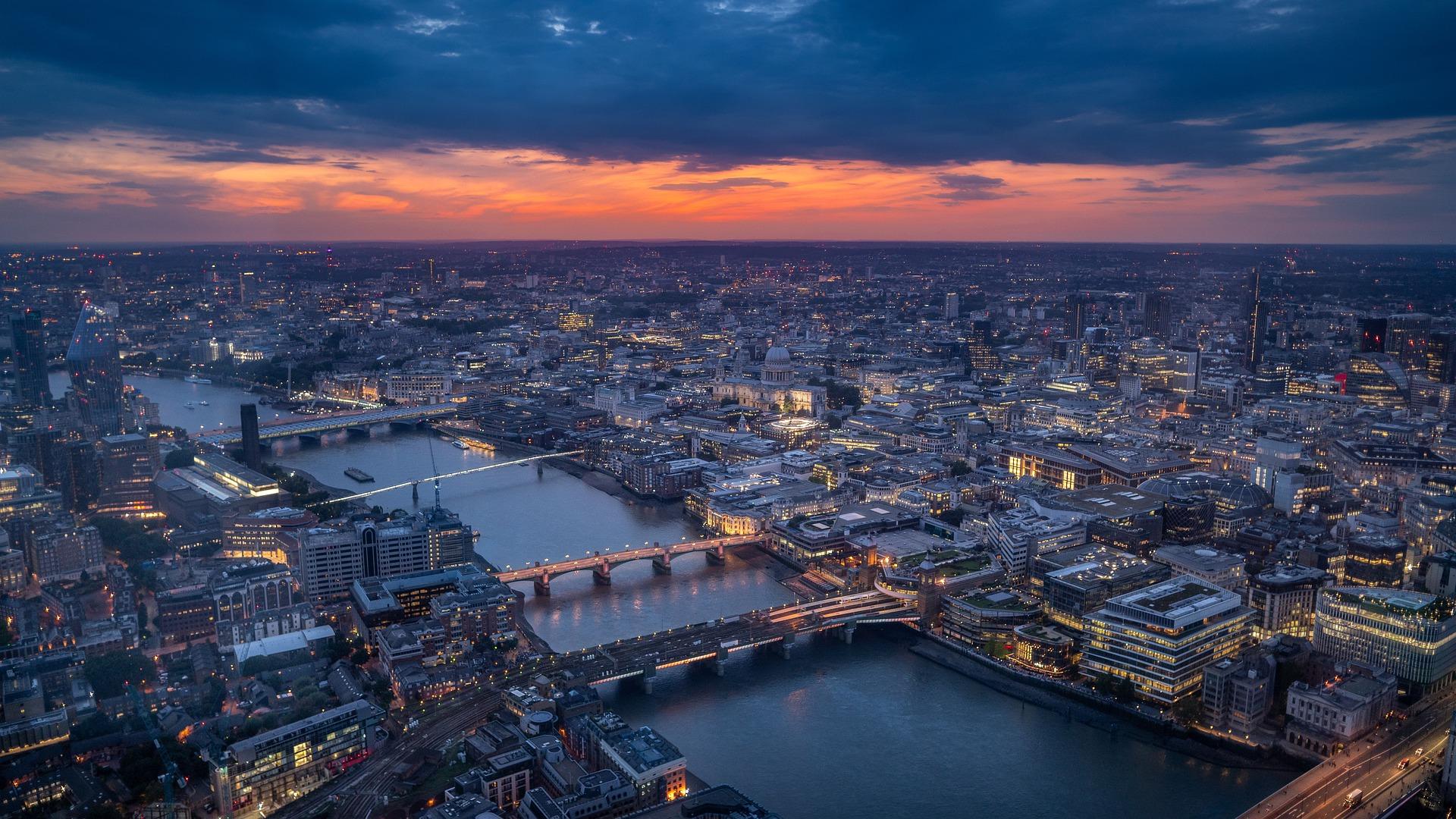 Letecký pohľad na Londýn