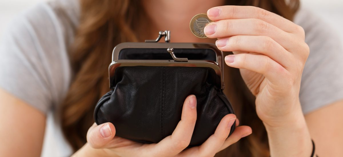 Žena s peňaženkou