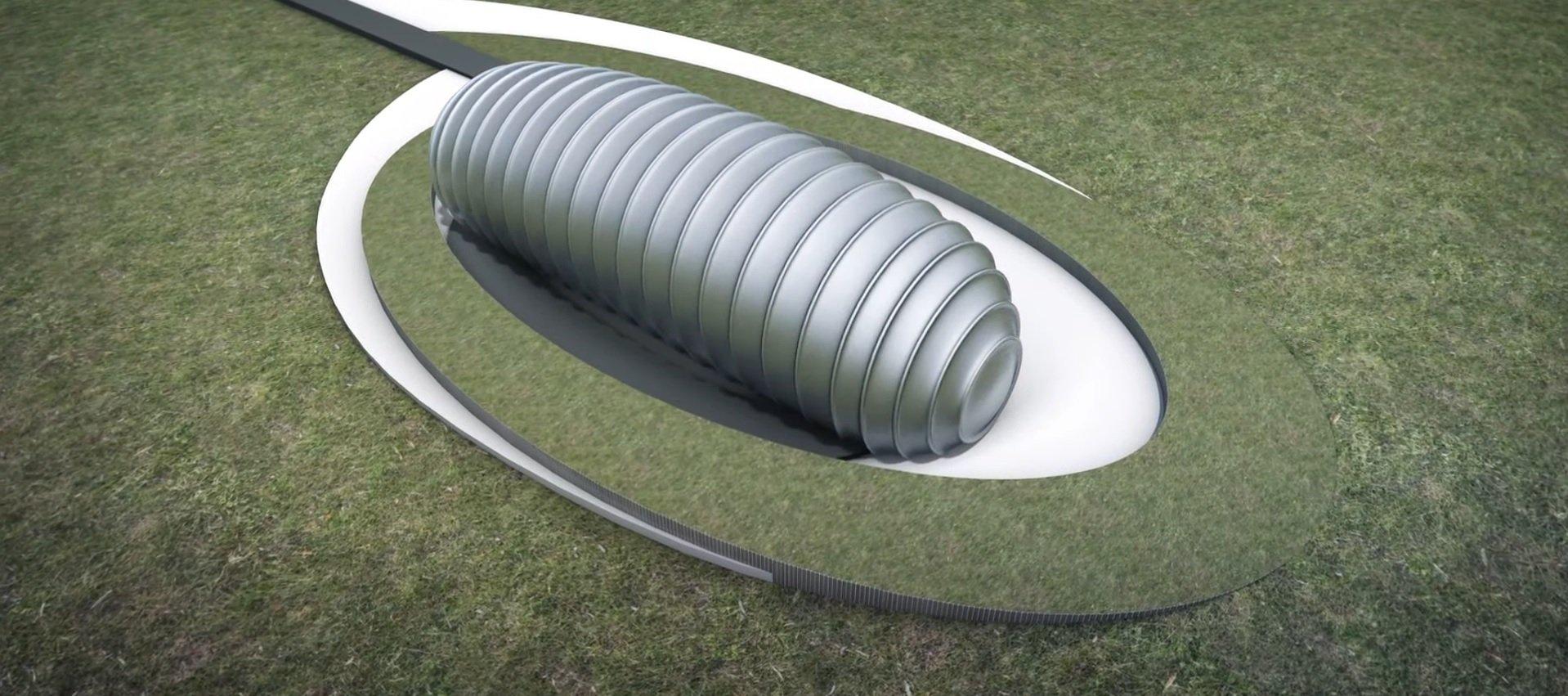Tvar modulárneho reaktora pripomína húsenicu