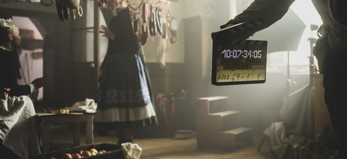 Záber z nakrúcania filmu Slúžka