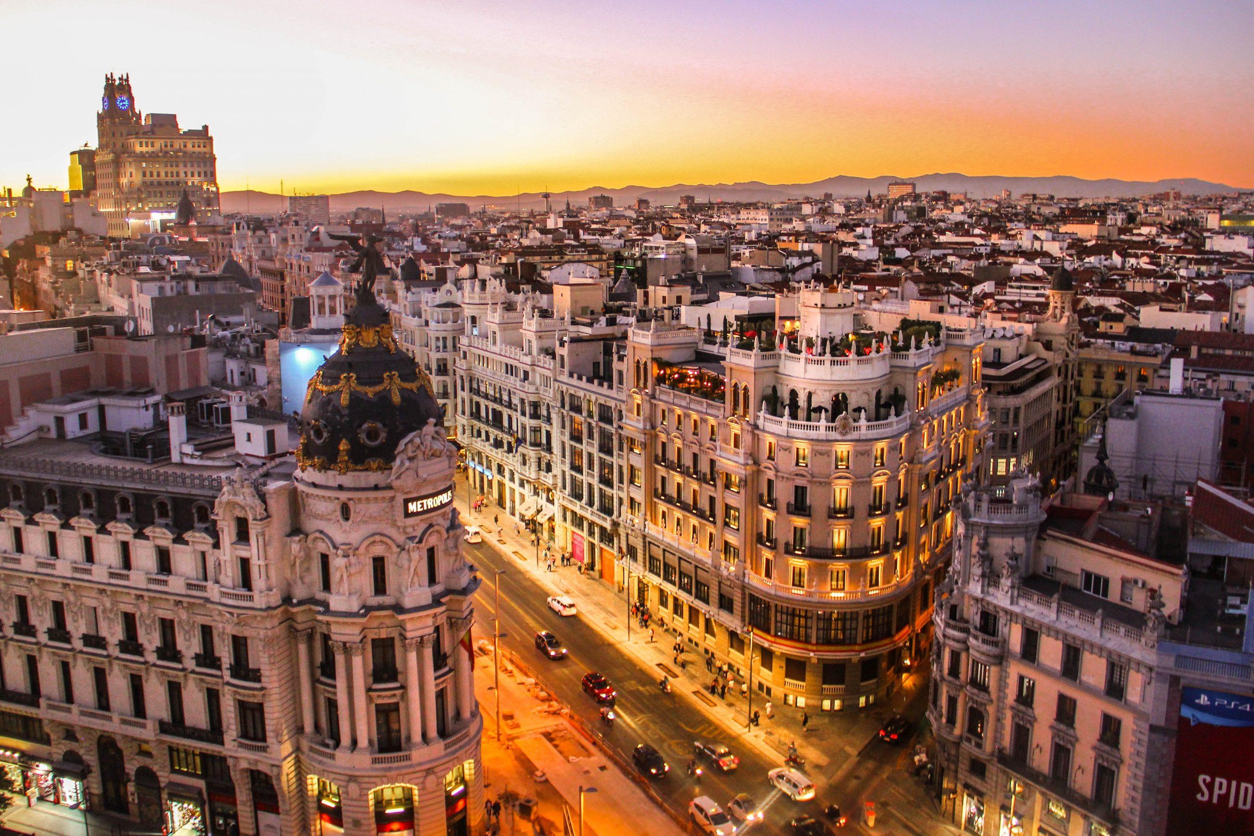 Záber na Madrid