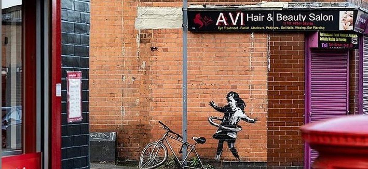 Banksy sa prihlásil k novému kúsku umenia.