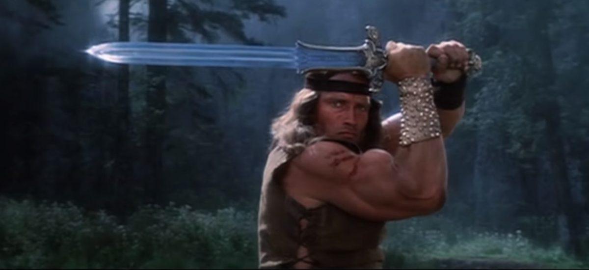 Barbar Conan vo svojej ikonickej scéne.