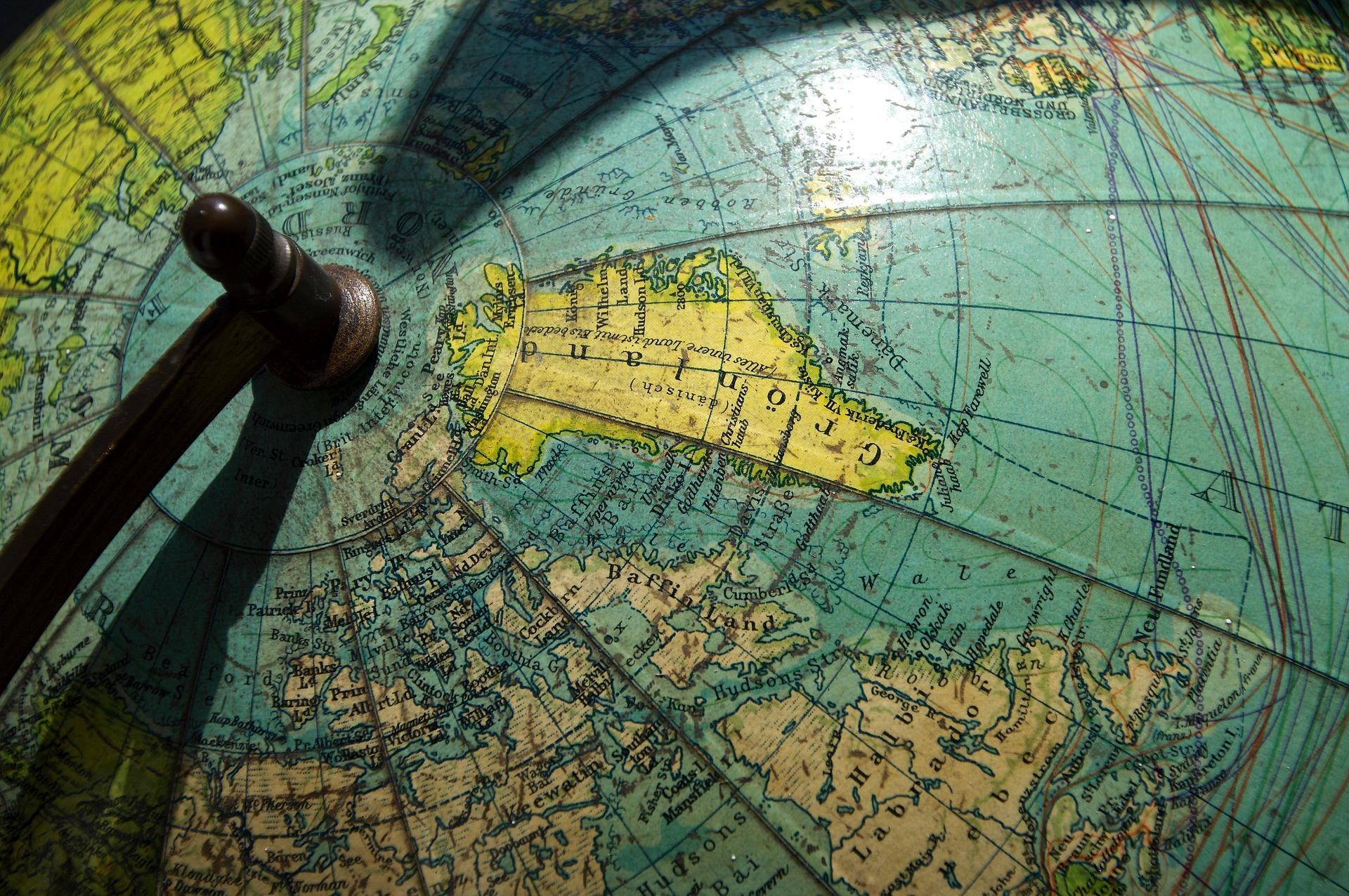 Glóbus s Grónskom