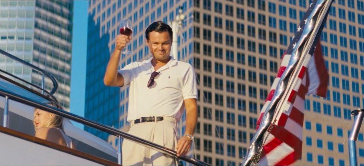 Leonardo DiCaprio vo filme Vlk z Wall Streer