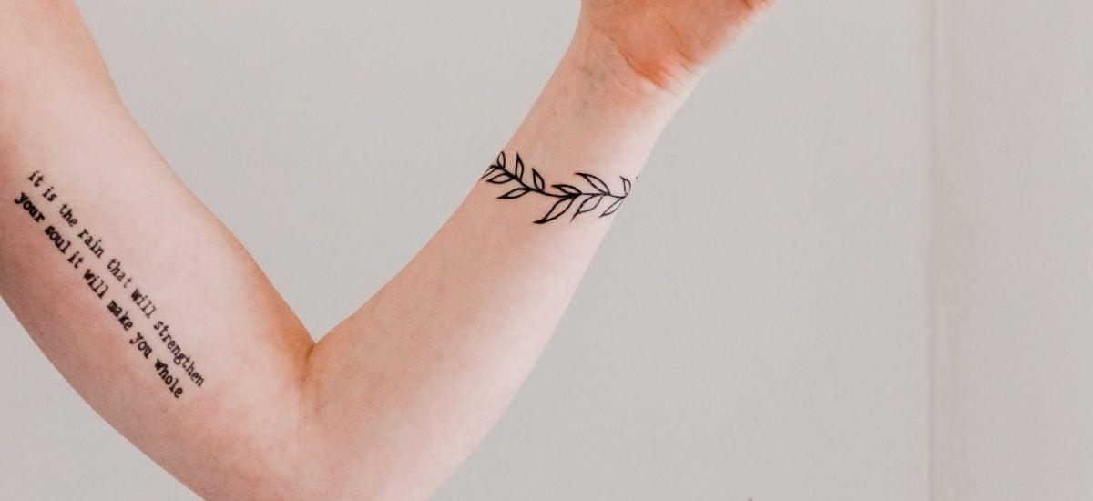 minimalistické tetovanie