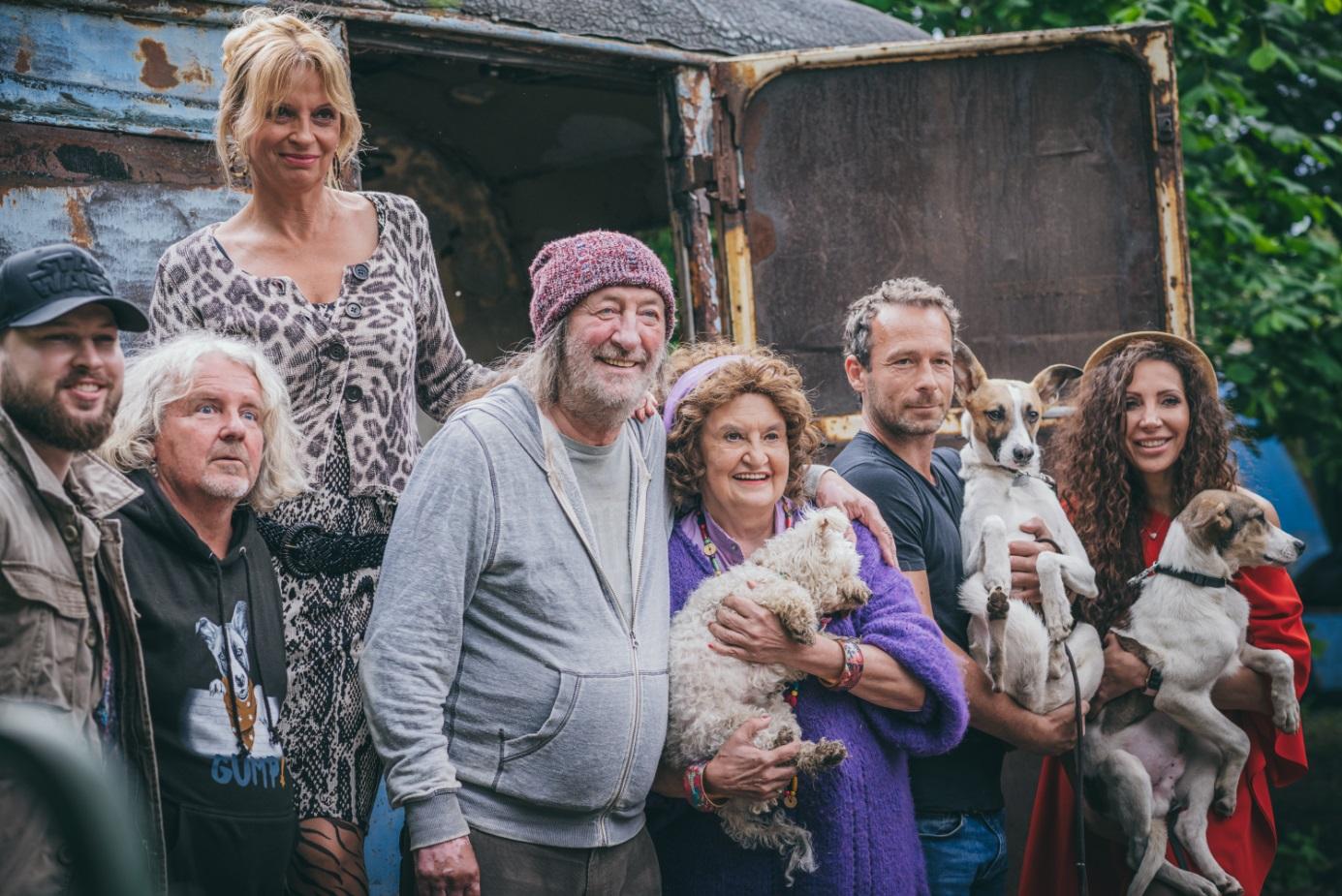 Záber z nakrúcania filmu Gump - pes, ktorý naučil ľudí žiť