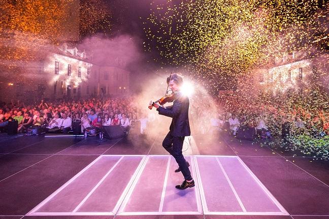 Filip Jančík na pódiu