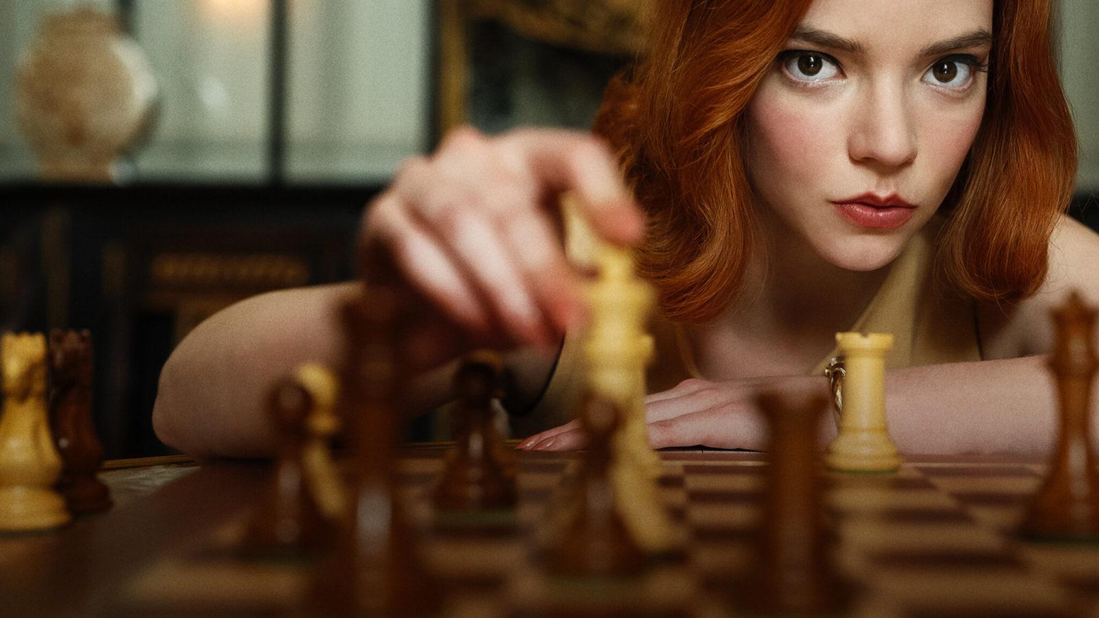 Záber zo seriálu Queen´s Gambit