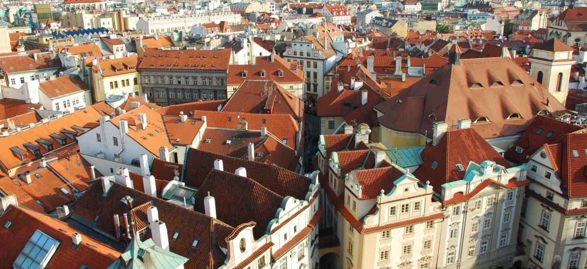 Letecký pohľad na Prahu