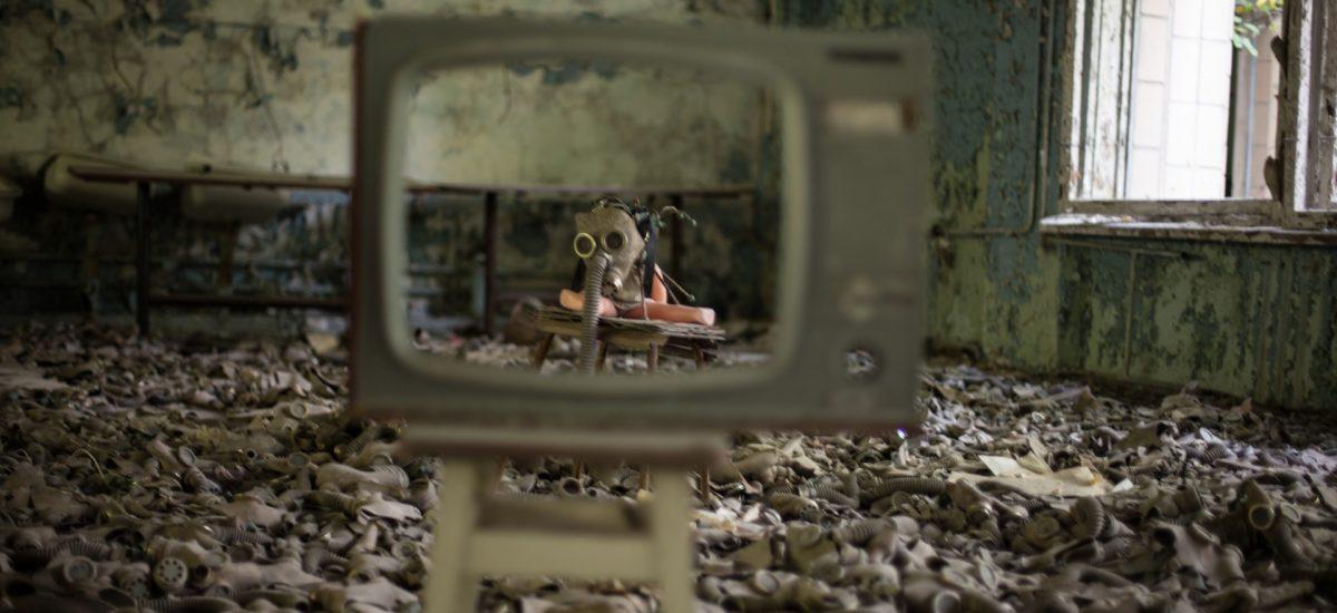 Opustený panelák v Černobyle
