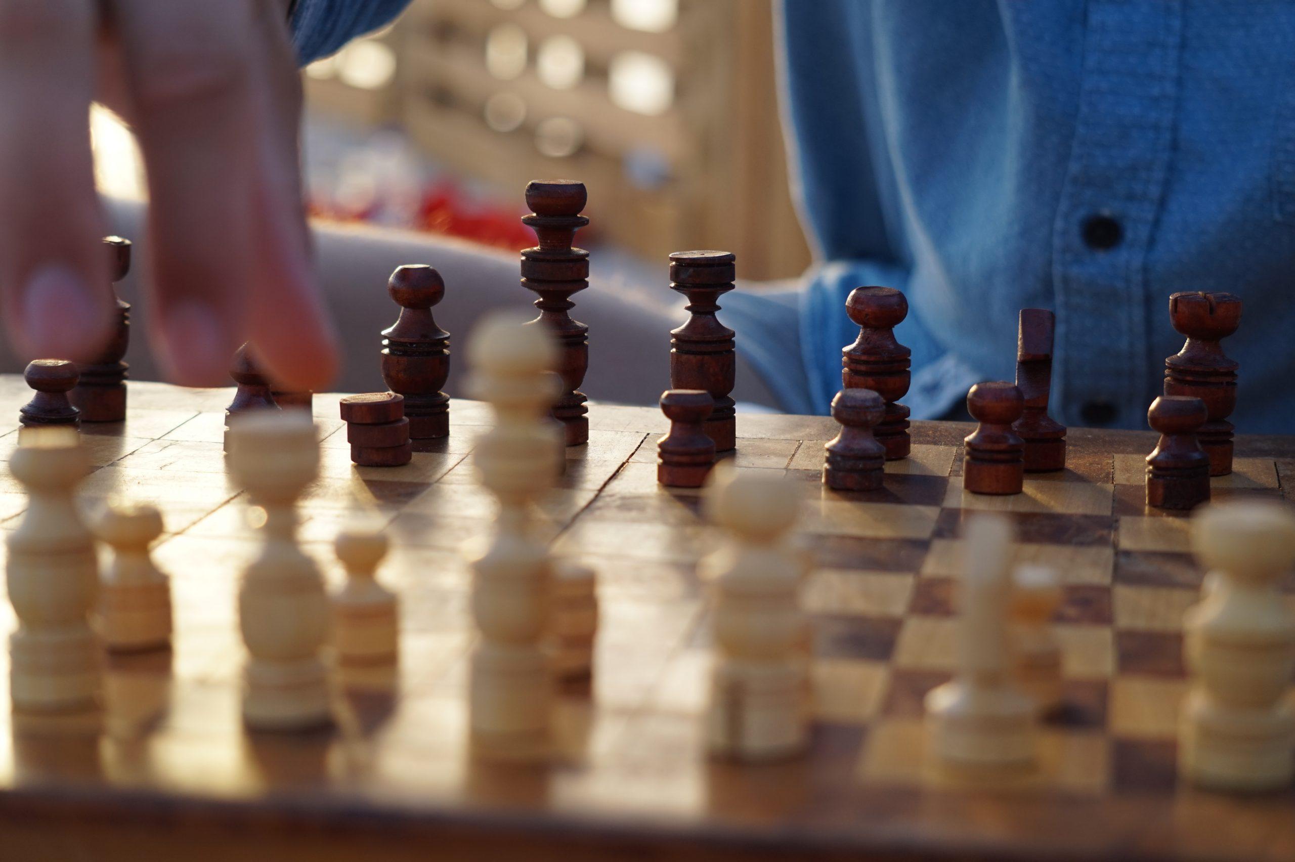 pohľad na šachovnicu