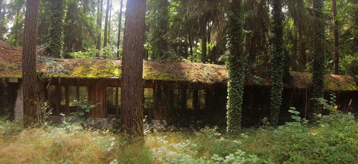 Opustený podnik v lesoch pri Prahe