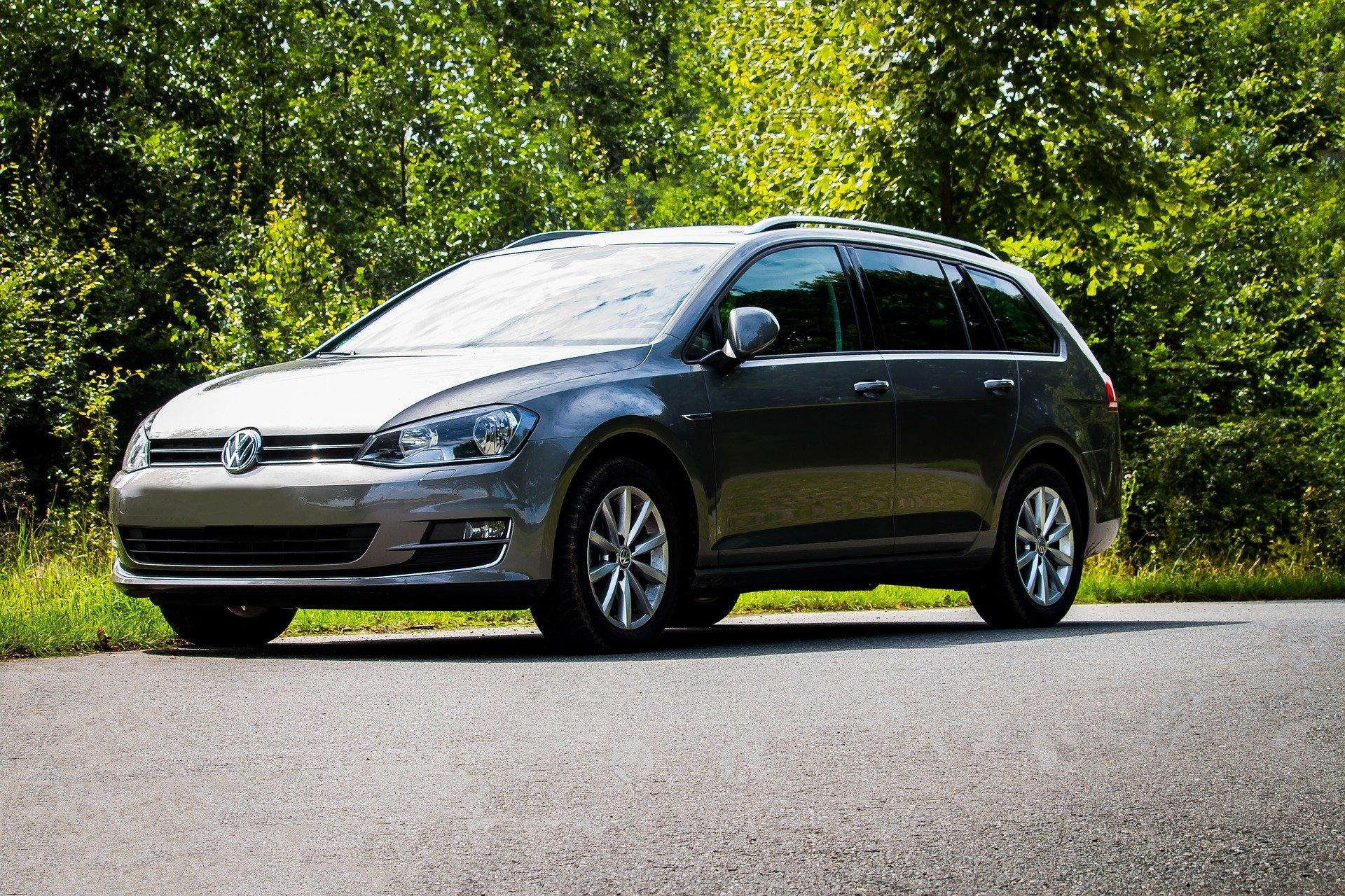 strieborný Volkswagen