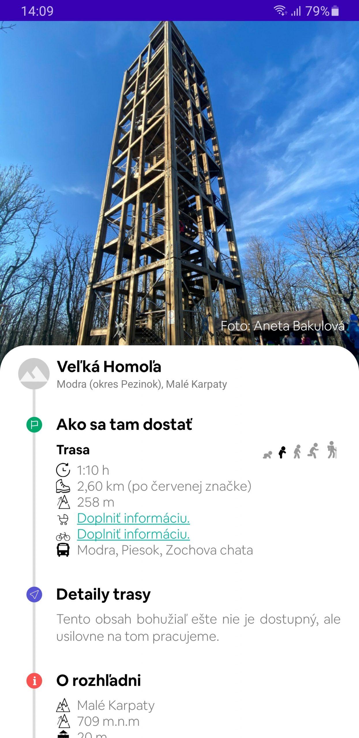 Screenshot z aplikácie Rozhliadni sa