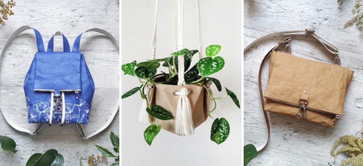 Produkty od značky SIUS z ekologického materiálu washpaper