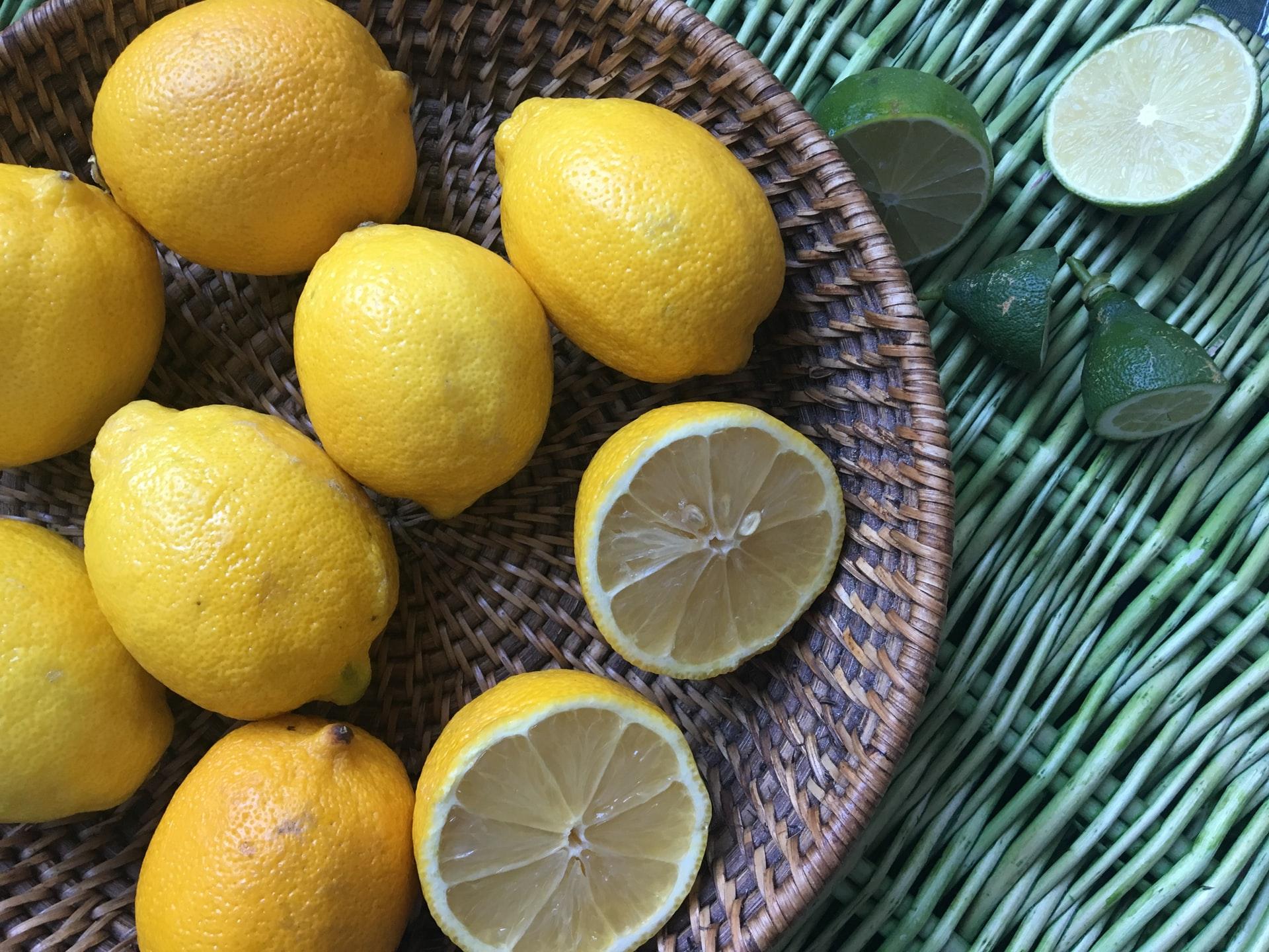 citróny, uhorka