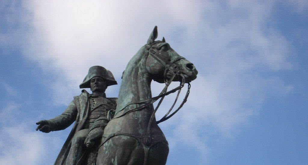 napoleon na koni socha