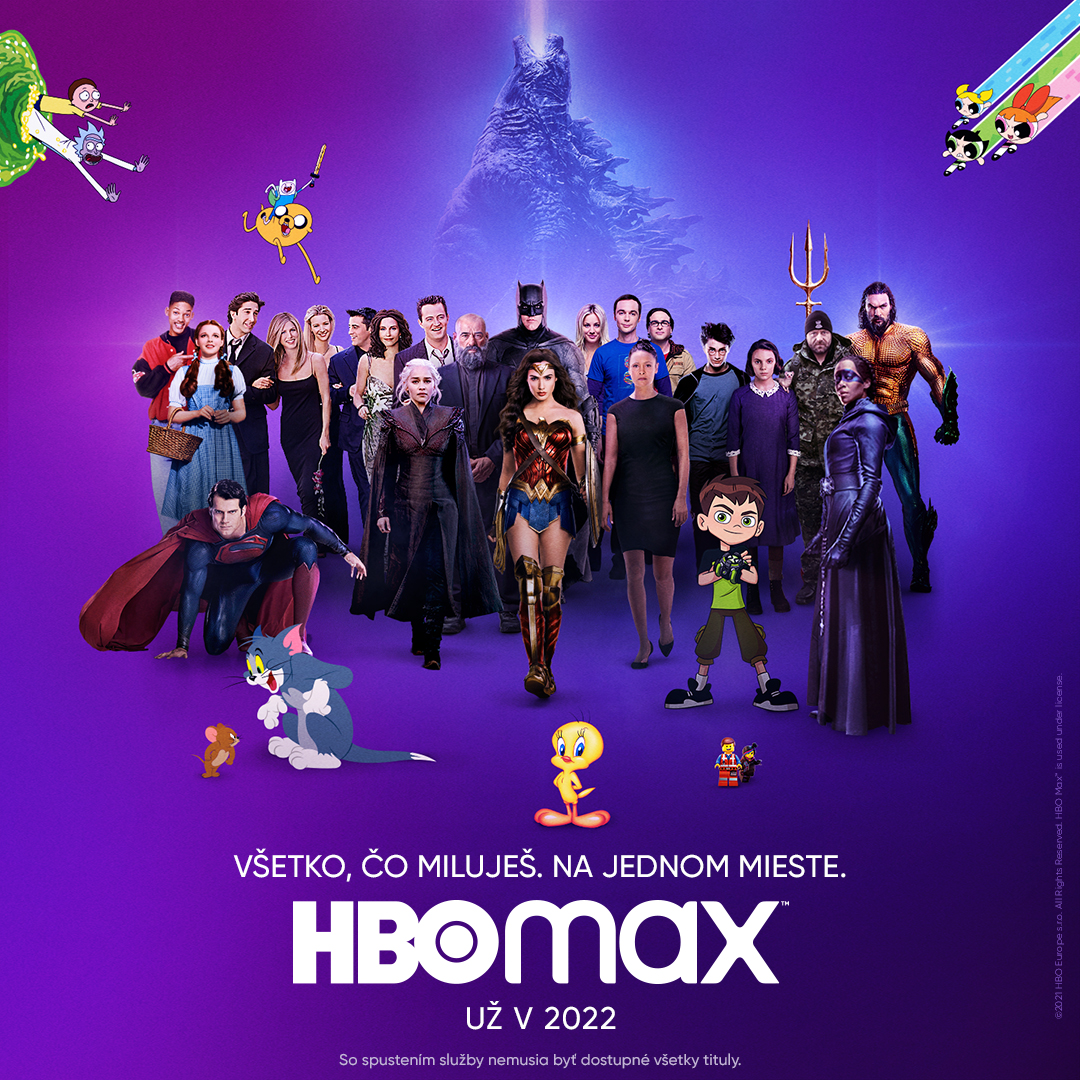 HBO Max príde na Slovensko v roku 2022, definitívny dátum sa dozvieme v októbri