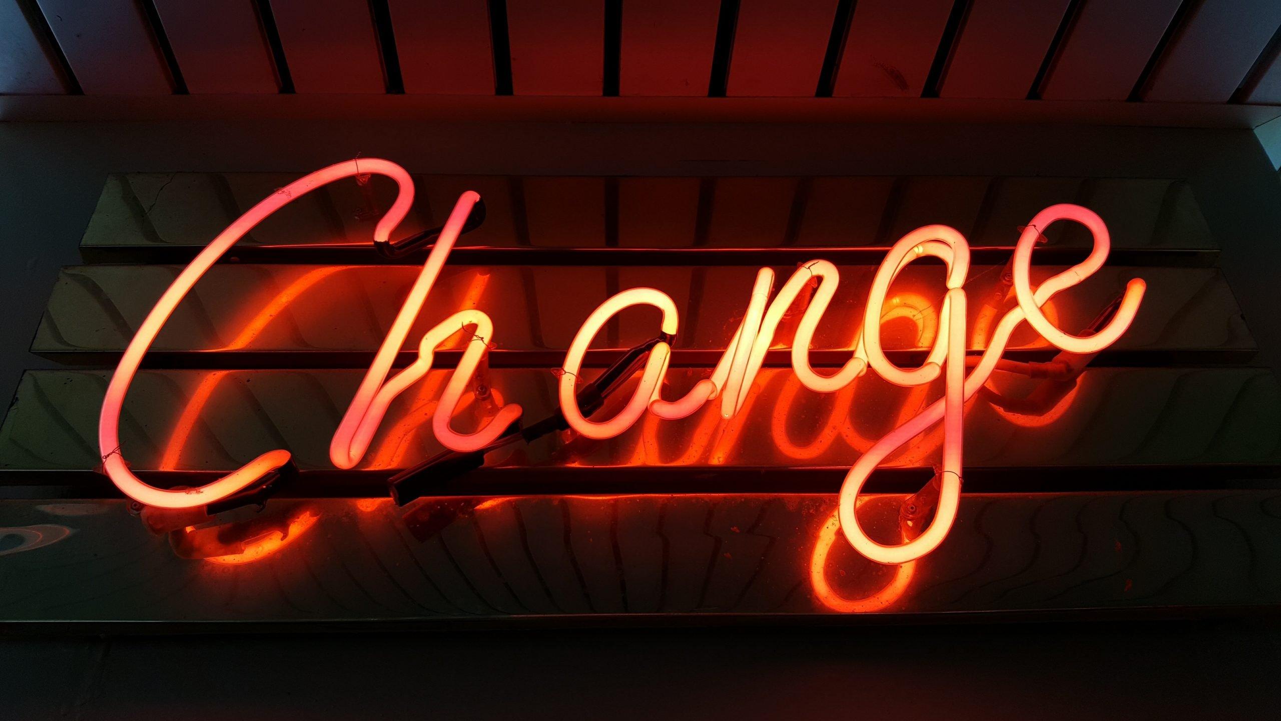 Motivačný nápis Change